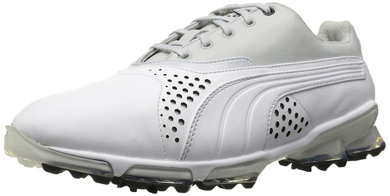 Puma Men's Titantour Golf Shoes White Grey by Overstock