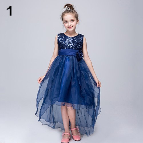 da15e4563bd bluelans - Kid Toddler Girl Sequined Flower Birthday Wedding Party ...