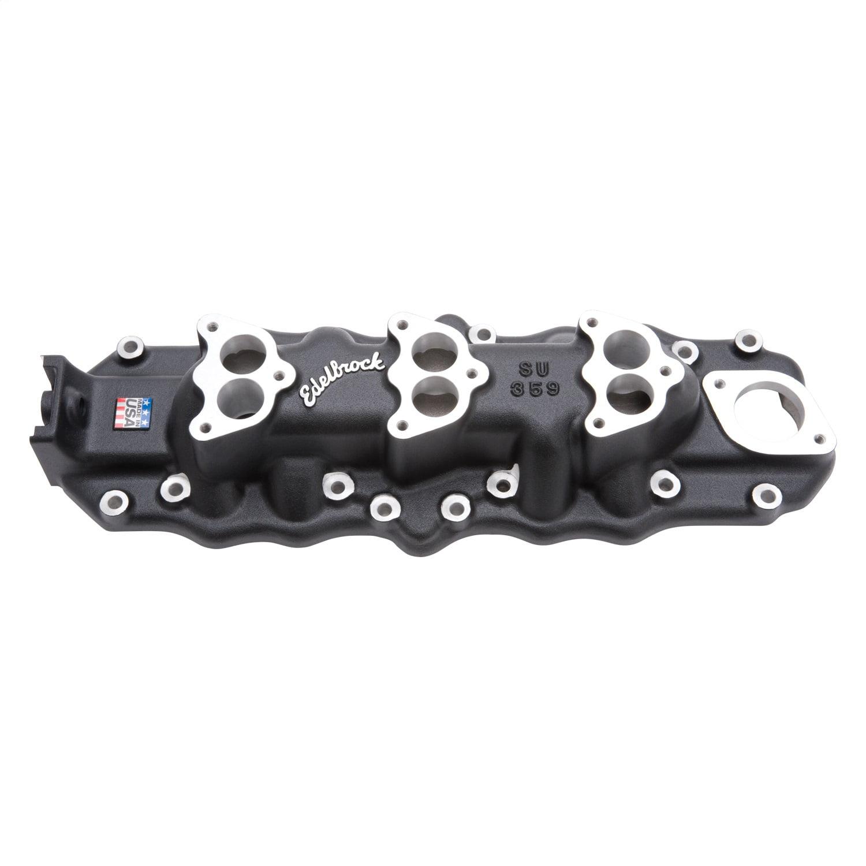 Edelbrock Manifold Ford Flathead Triple Deuce38-48 Satin Black