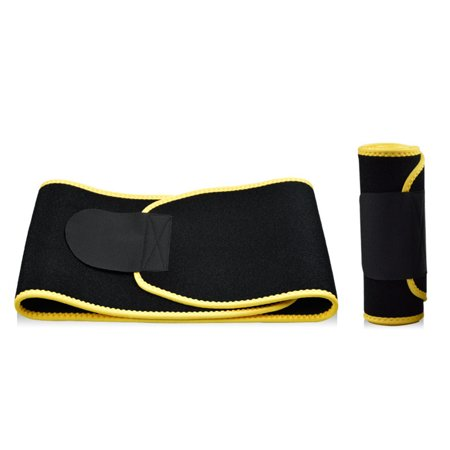 Neoprene Waist Tummy Slimming Belt Sweat Band Body Shaper Wrap Strap For Weight Loss Burn Fat Exercise Size:M