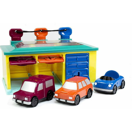 battat 3 car garage play set