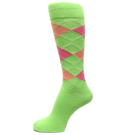 Spotlight Hosiery shades of GREEN Men's Groomsmen's Dress Socks (Teal, Kelly, Lime, Olive, Forest)](Green High Socks)