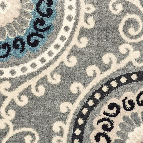 Shaw Floors Galleria Summit Gray/Blue Area Rug