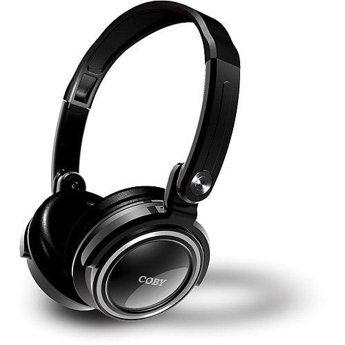 Coby Folding Deep Bass Stereo Headphones