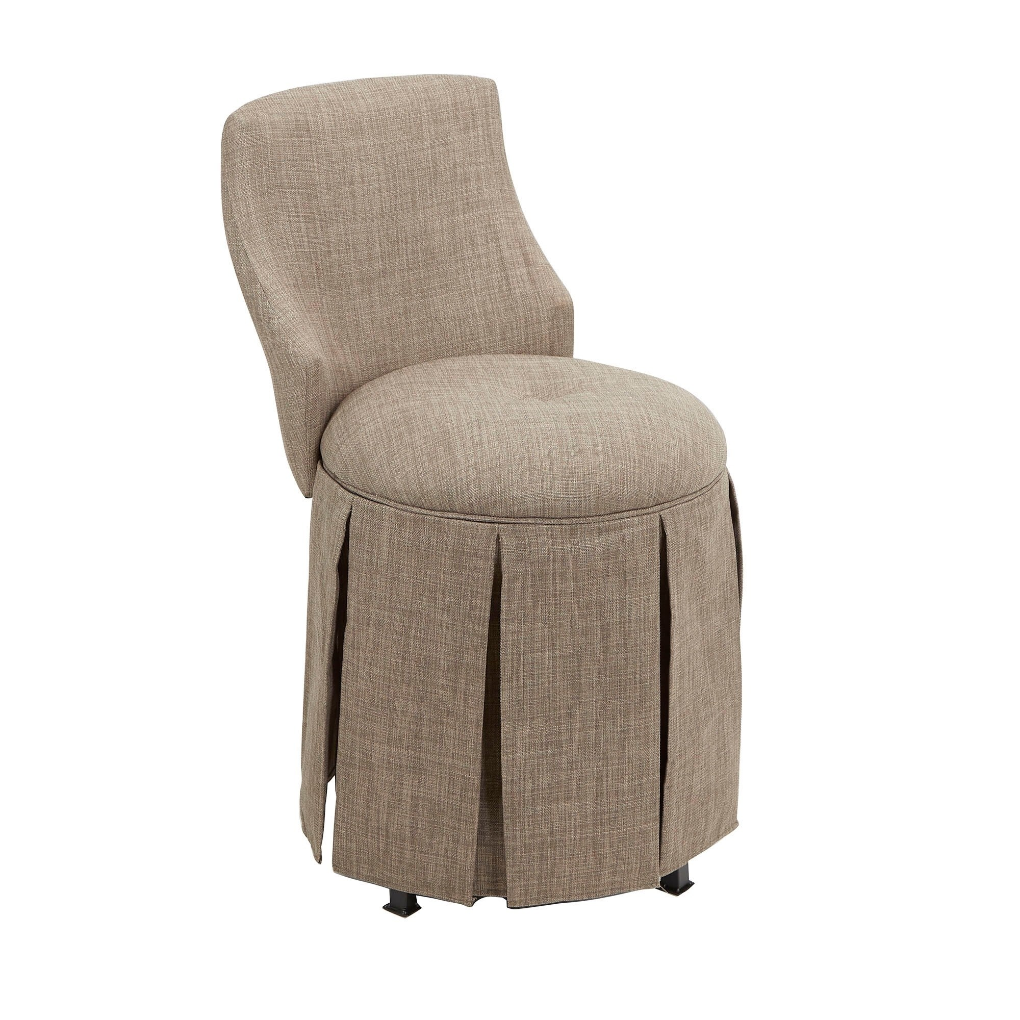 Sullivan Skirted Swivel Vanity Chair With Back Walmart Com Walmart Com