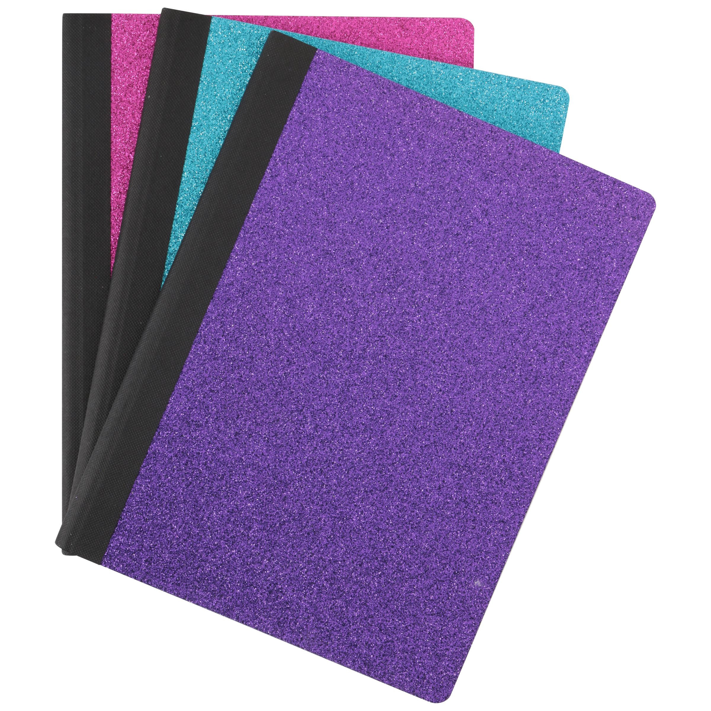 U-Style™ Collections Glitter Wide Ruled 100 Sheet Composition Book Variety Pack 3 pc Pack