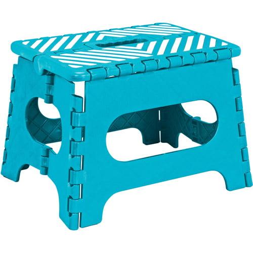 Simplify Easy Folding Step Stool Ocean Blue 9 Inch