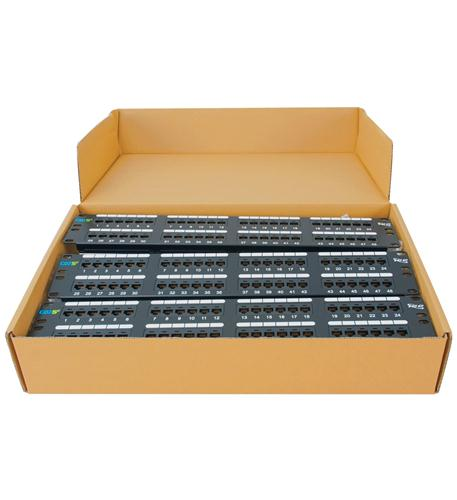 Iconovex ICMPP485EV Patch Panel, Cat 5e, 48-port, 2rms, 6 Pk