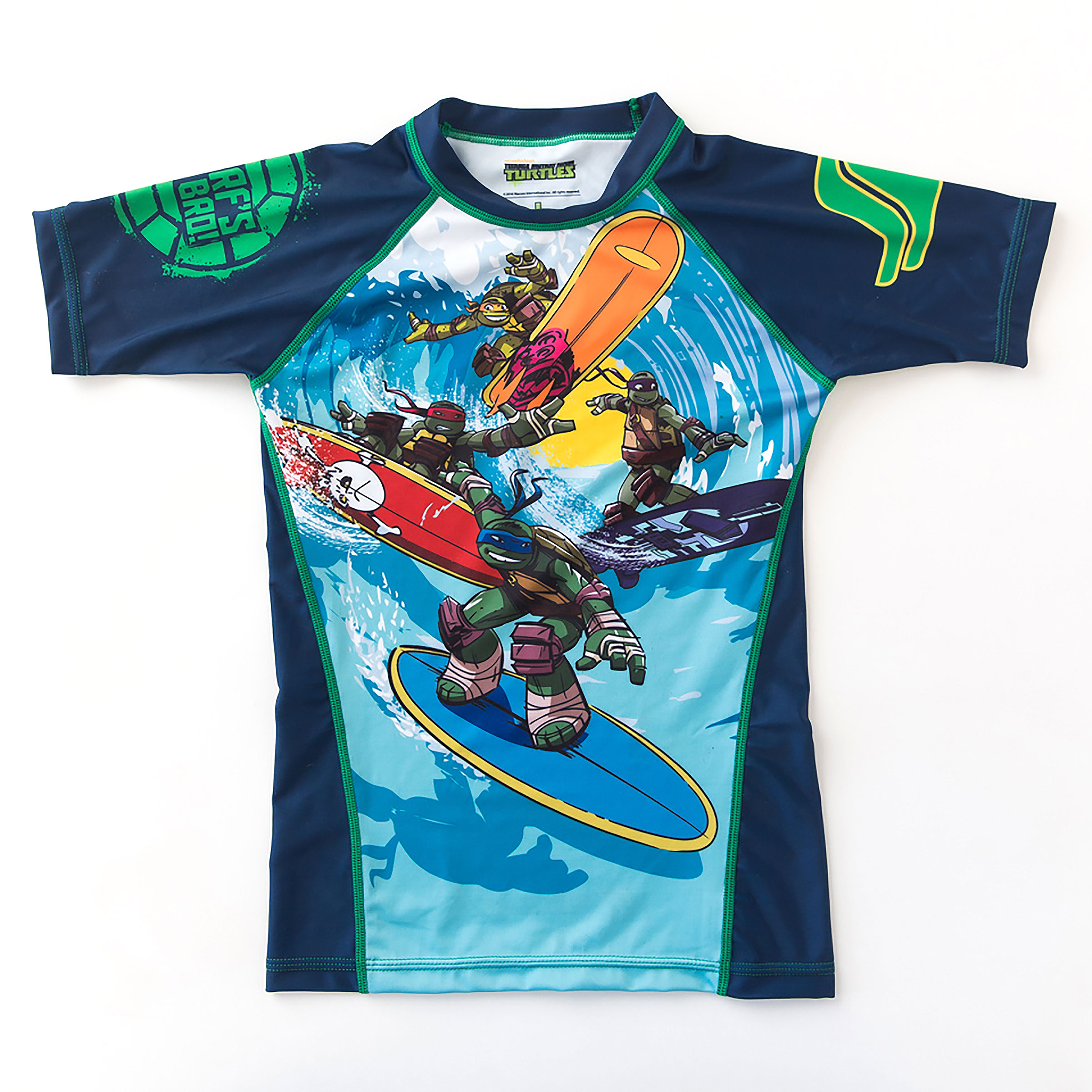 Fusion Fight Gear Kids TMNT Sewer Surfin Shortsleeve Rashguard