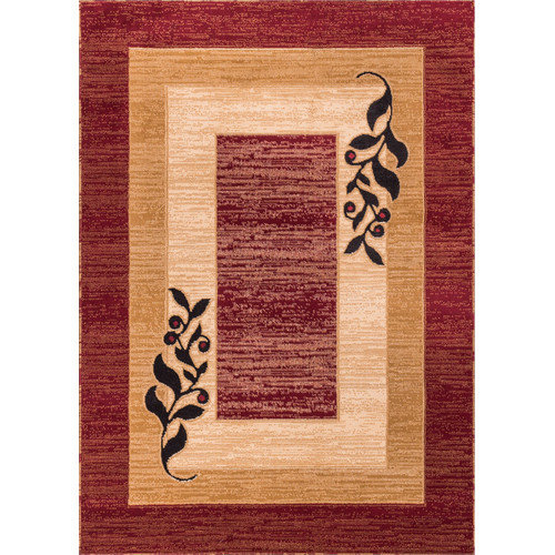 "Well Woven Dulcet Whisper Modern Runner Rug, Red, 2' x 7'3"" Runner"