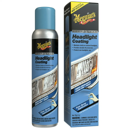 Meguiar's G17804 Keep Clear Headlight Coating, 4 oz. – Maintain the Clarity of Your Headlights 4 Fl Tialn Coating