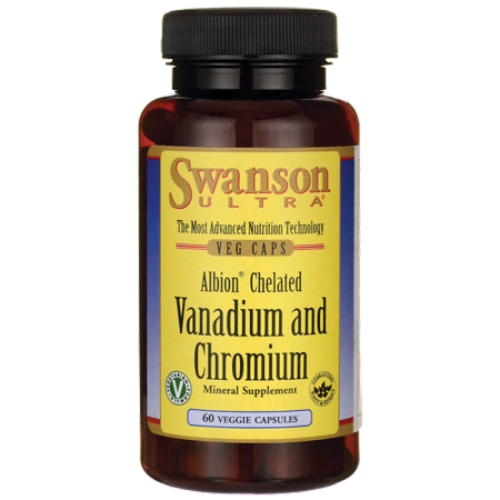 Albion swanson Chelated et chrome Vanadium 60 Veg Caps