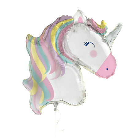 Large Foil Rainbow Unicorn Party Balloon, 42 in, 1ct - Alphabet Balloons Party City