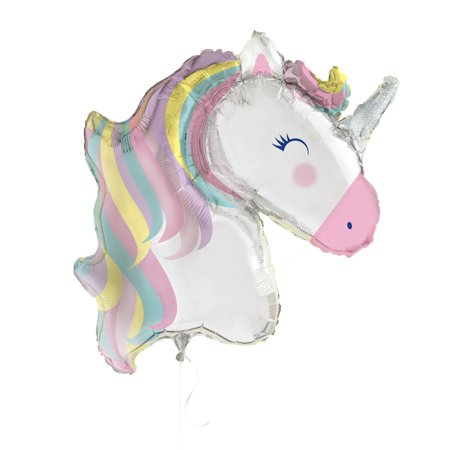 Large Foil Rainbow Unicorn Party Balloon, 42 in, - Balloon World Party Shop