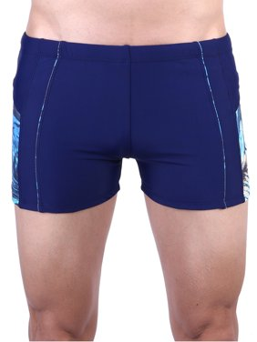 Mens Swim Quick Dry Briefs Square Leg Swim Trunks Athletic Jammers Shorts Compression Tight Underwear Bathing Suits