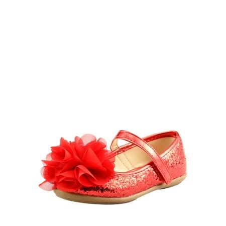 The Doll Maker Glitter flat-TD173056D-8 - Red Glitter Flats
