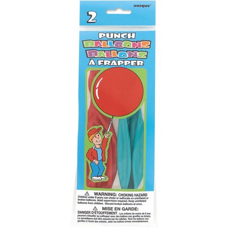 Punch Ball Balloons, 16 in, Assorted, 2ct](Punch Balls)