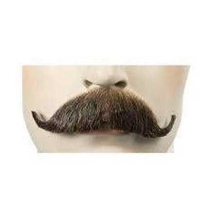 Edwardian M34 Human Hair Mustache, Medium Brown Red 30 - Edwardian Halloween