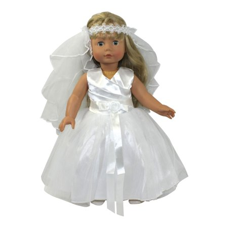 Arianna Glorious Day Communion Dress Fits 18 inch dolls