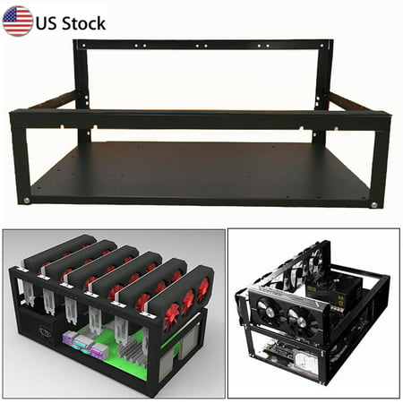 Crypto bitcoin miner Coin Open Air Mining Frame Rig Case up to 6 GPU ETH BTC Ethereum Miner