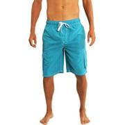 Norty Mens Big Extended Size Swim Trunks - Mens Plus King Size Swimsuit thru 5X Aqua / XX-Large