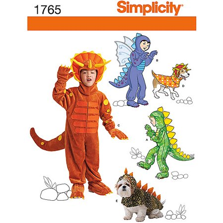 Simplicity Child's Size 3-8 Dog Costumes Pattern, 1 Each