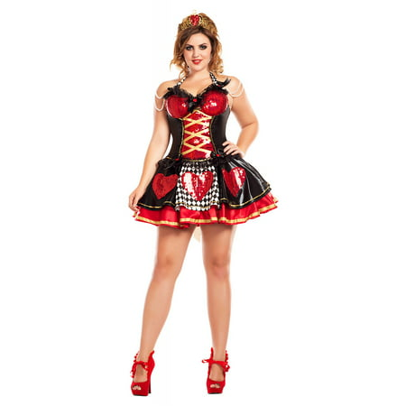 Off with their Heads Queen of Hearts Plus Size Adult Costume - Plus Size 3X - 80s Prom King And Queen Costume