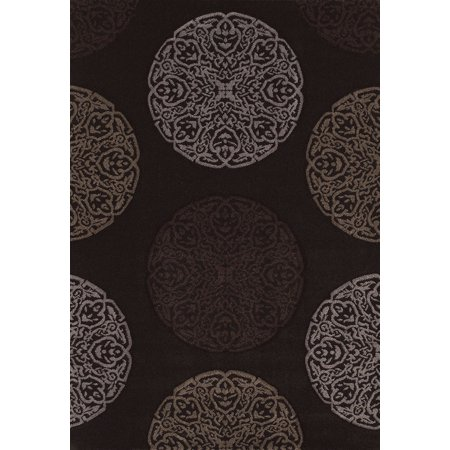 Westfield Home Townshend Rihanna Black Hand Carved Area Rug (7'10 x 11'2)