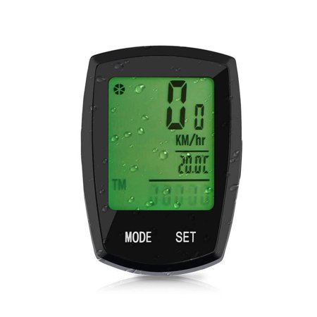 Bike Computer Thorfire Wireless, Bicycle Speedometer and Odometer Waterproof Cycle Computer with LCD Backlight Display, Automatic Wake-up,