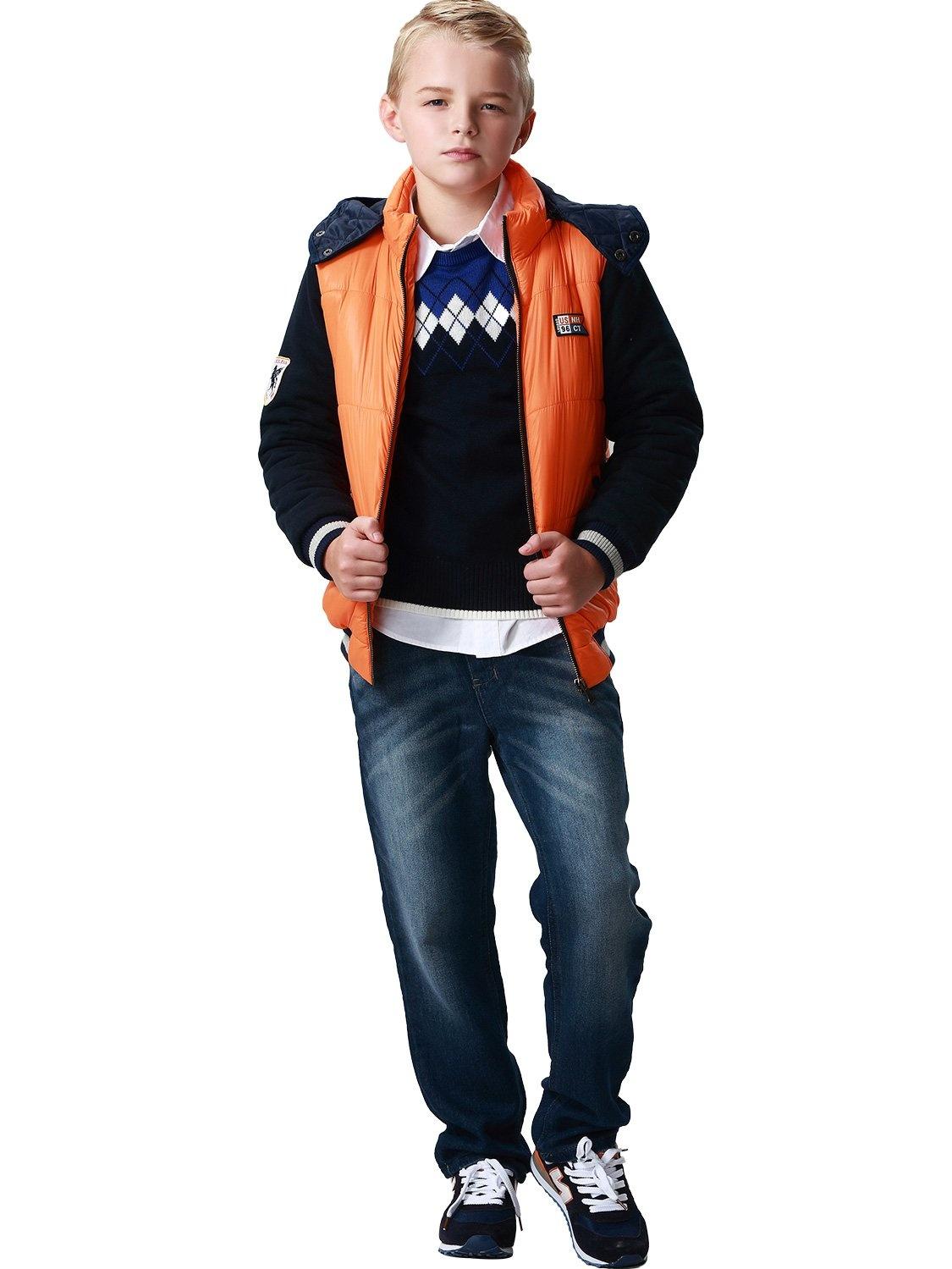 77bf31f88203 Leo Lily Boys Winter Padded Puffer Jacket Outwear Coat W Fleece Sleeves -  Walmart.com