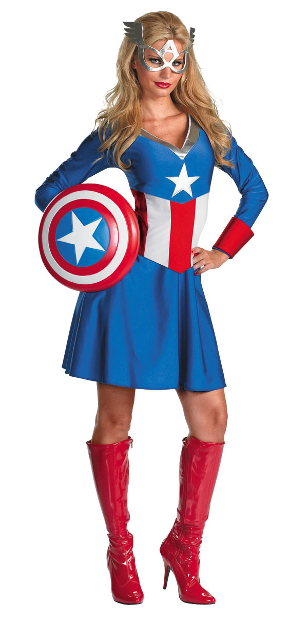 Disguise Marvel American Dream 2pc Adult Costume 20f068ab4de0