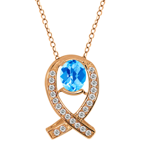 2.04 Ct Checkerboard Swiss Blue Topaz Topaz Gold Plated Sterling Silver Pendant