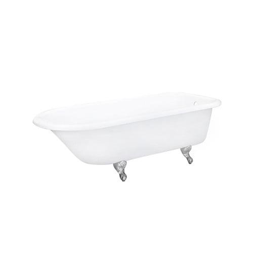 "Elements of Design 67"" x 30"" Soaking Bathtub ECTND673123 Legs Included: Yes, Leg Finish: Satin Nickel"