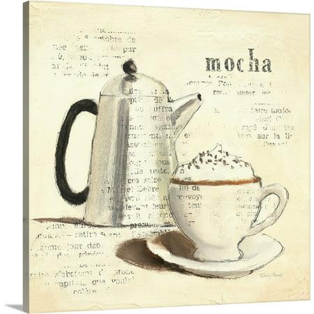 Great BIG Canvas | Emily Adams Solid-Faced Canvas Print entitled Parisian Coffee I Bag Canvas Coffee
