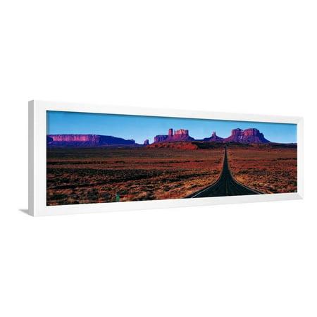 Route 163, Monument Valley, Tribal Park, Utah, USA Framed Print Wall Art - Monument Valley Usa Framed
