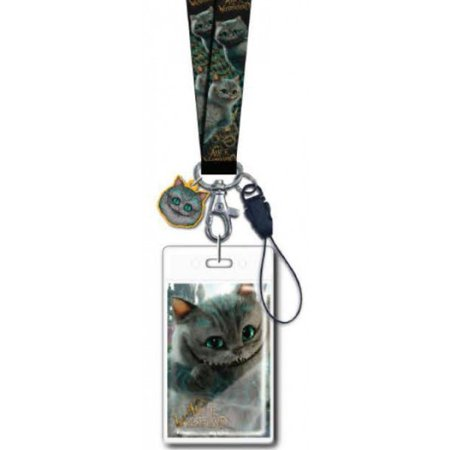 Lanyard - Disney - Alice in the Wonderland Chesire Cat Movie w/Soft Touch Dangle