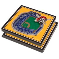 Pittsburgh Pirates 3D StadiumViews Coasters - Yellow