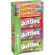 Skittles & Starburst Halloween Candy Variety Pack, 18 Single Packs