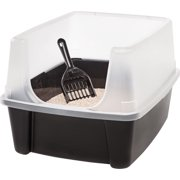 IRIS Cat Litter Pan with Shield and Scoop