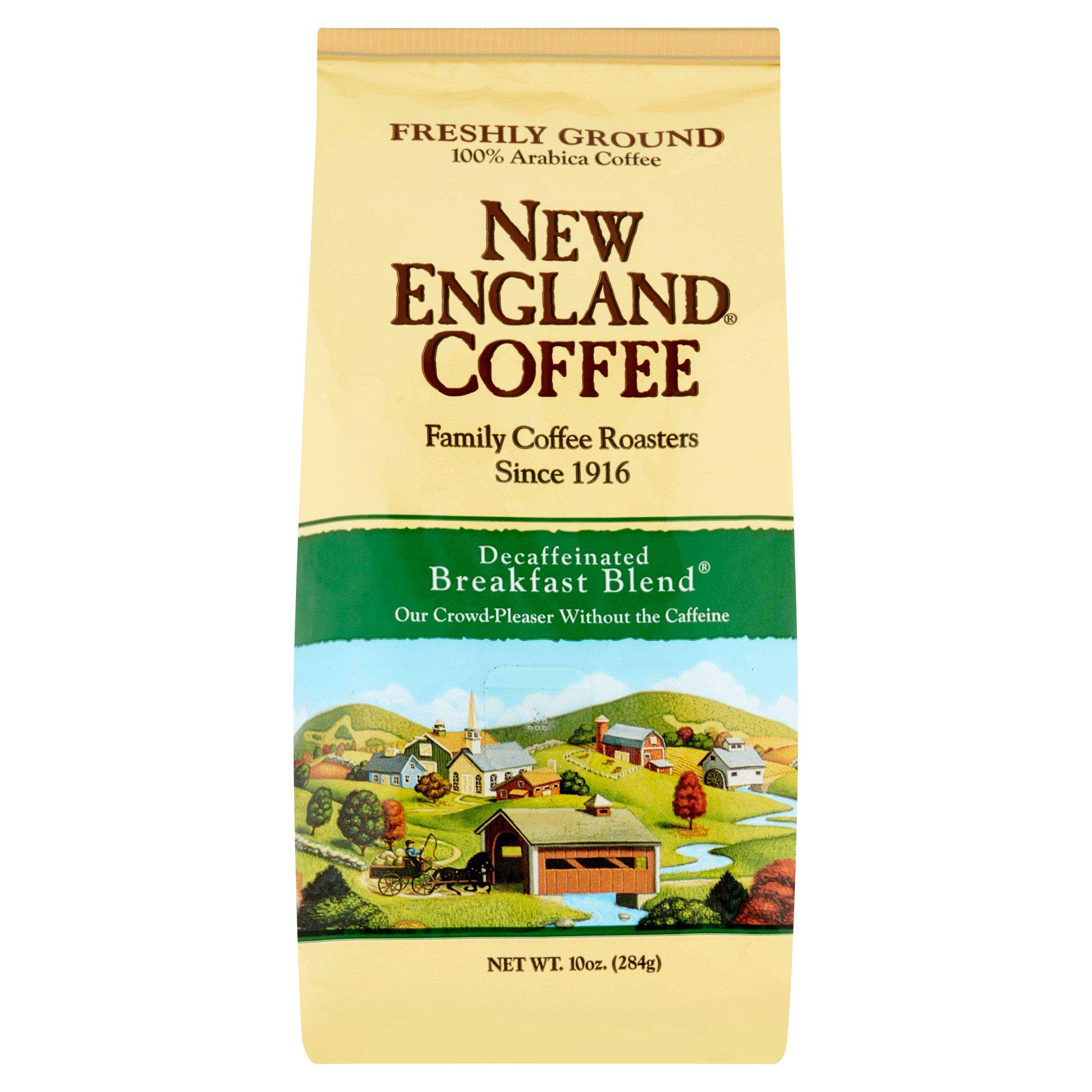 New England® Coffee Decaffeinated Breakfast Blend Freshly Ground 100% Arabica Coffee 10 oz. Bag