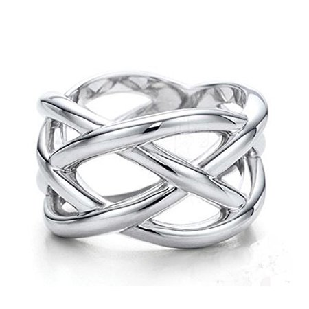 Silver Unisex Ring (Chic Fish Web Silver Unisex Fashion Ring (Size 10) )