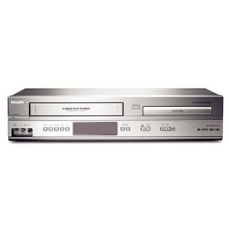 Philips DVP3345V/17 DVD/VCR Combo Player with Remote, Quick Start Guide, Audio Video Cables. (Refurbished) ()