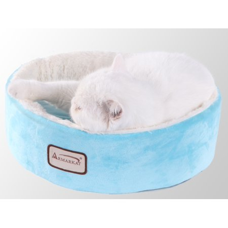 Armarkat Covered Pet Cat Bed, Blue