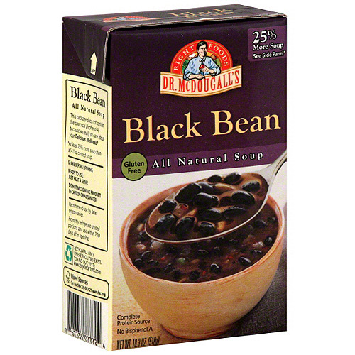Dr. McDougall's Black Bean Soup, 18.3 oz (Pack of 6)