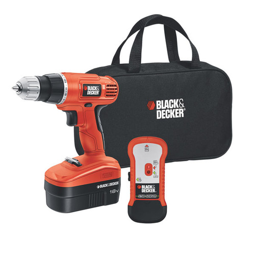 Black & Decker 18V Cordless Drill Set, GCO18SFB