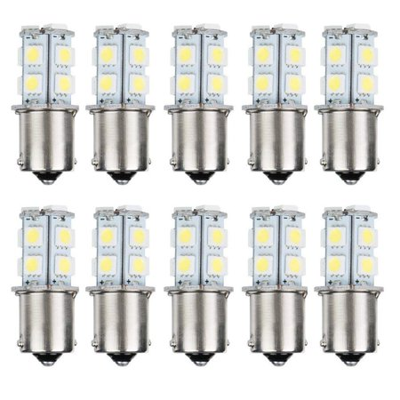 AUTOSAVER88 10pcs 1156 Super Bright White LED Bulbs for Replacement of Turn Signal Light Car Back up Parking Tail Light BA15S 13-SMD 5050 6500K 12V 1129 1141 1159 1259 1156 Led 12v Bulb