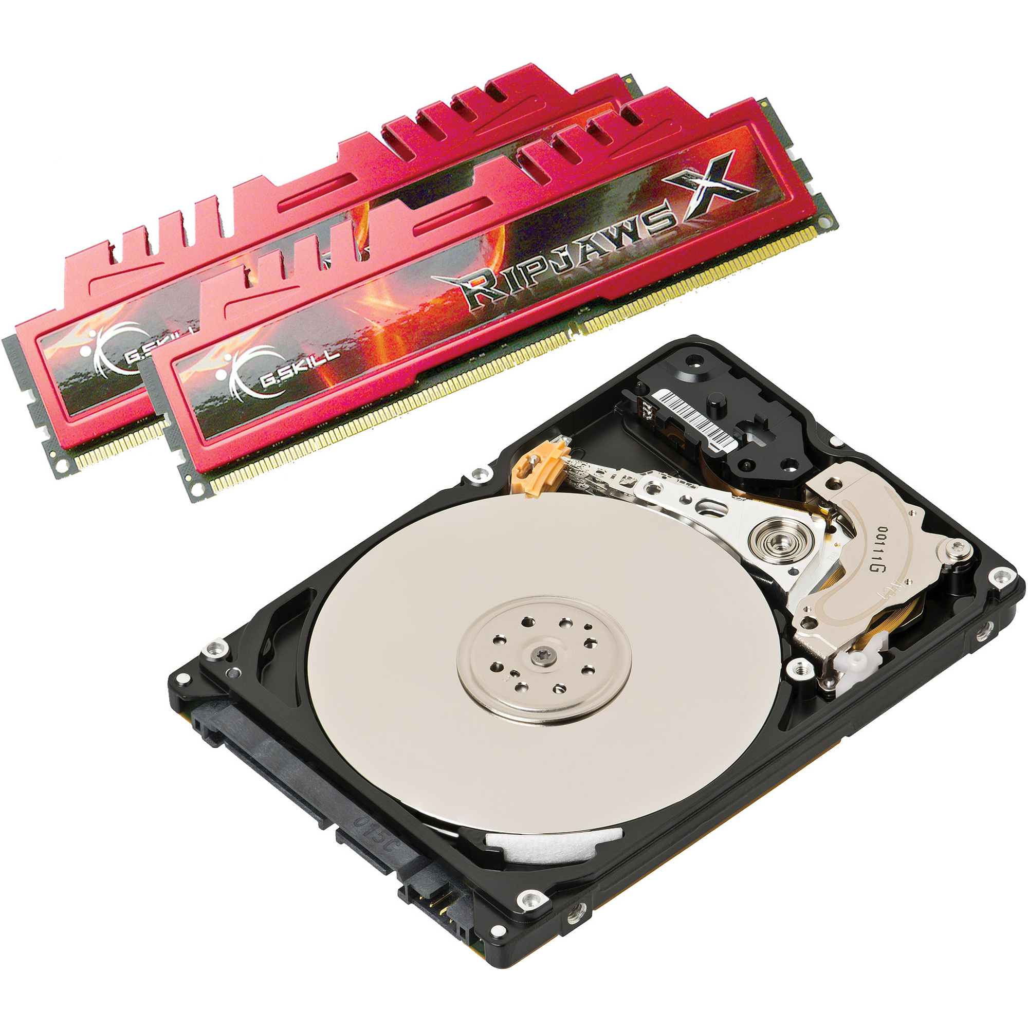 8GB DDR3 G.Skill Rip Jaws + 2TB Hard Drive