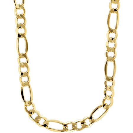 Simply Gold Mens 10Kt Yellow Gold 7 55Mm Figaro Chain  22