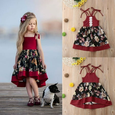 Toddlers Tutu Dress (Princess Toddler Kid Baby Girls Tutu Strap Dress Party Princess Floral)
