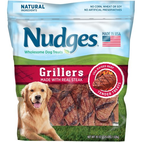 Nudges Steak Grillers Wholesome Dog Treats 36 oz. Bag by Tyson Pet Products, Inc.